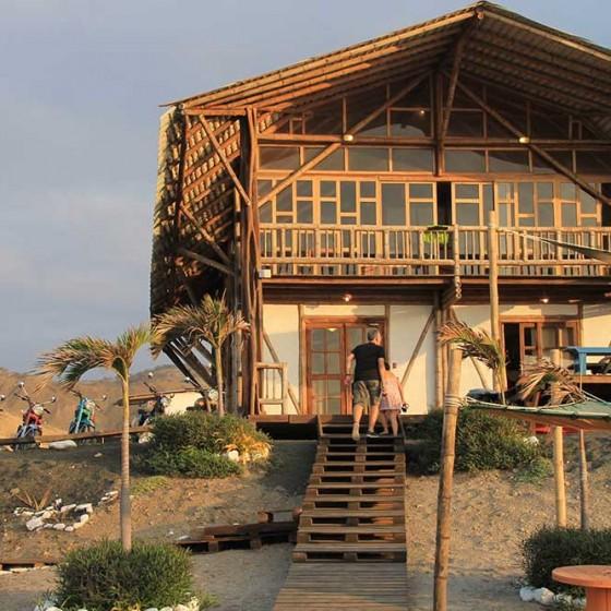 Cottage, plage de Montanita