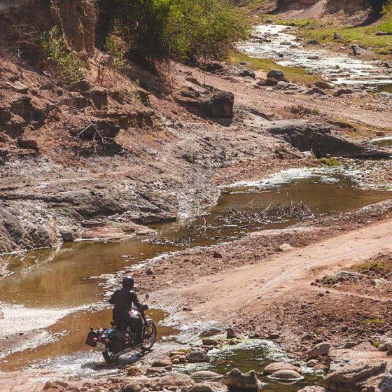Off road à moto