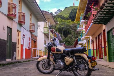 Colombie en Royal Enfield