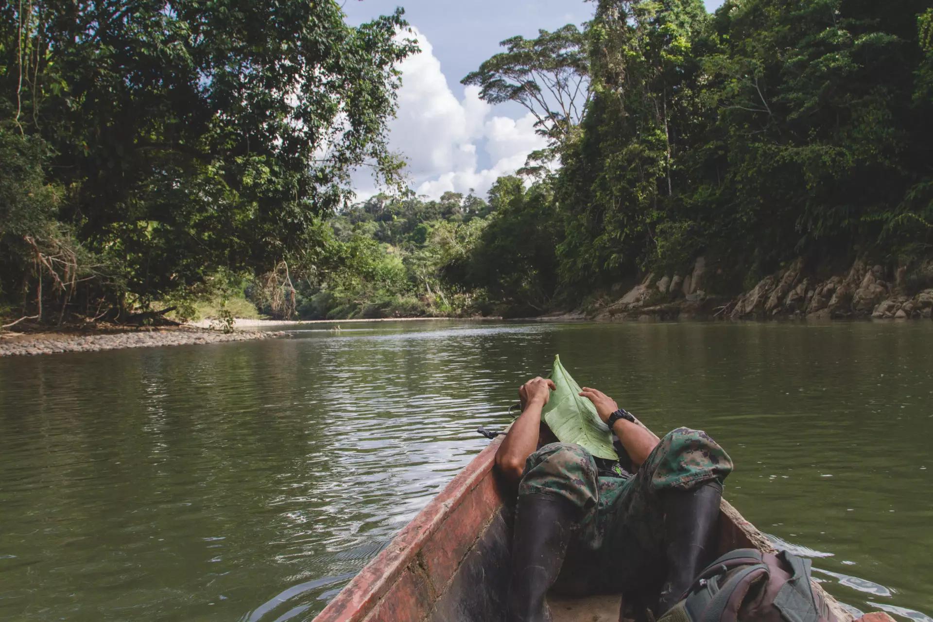 Amazonie en Royal Enfield