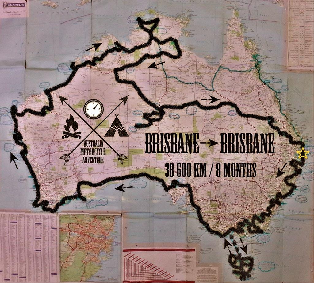 road trip moto australie