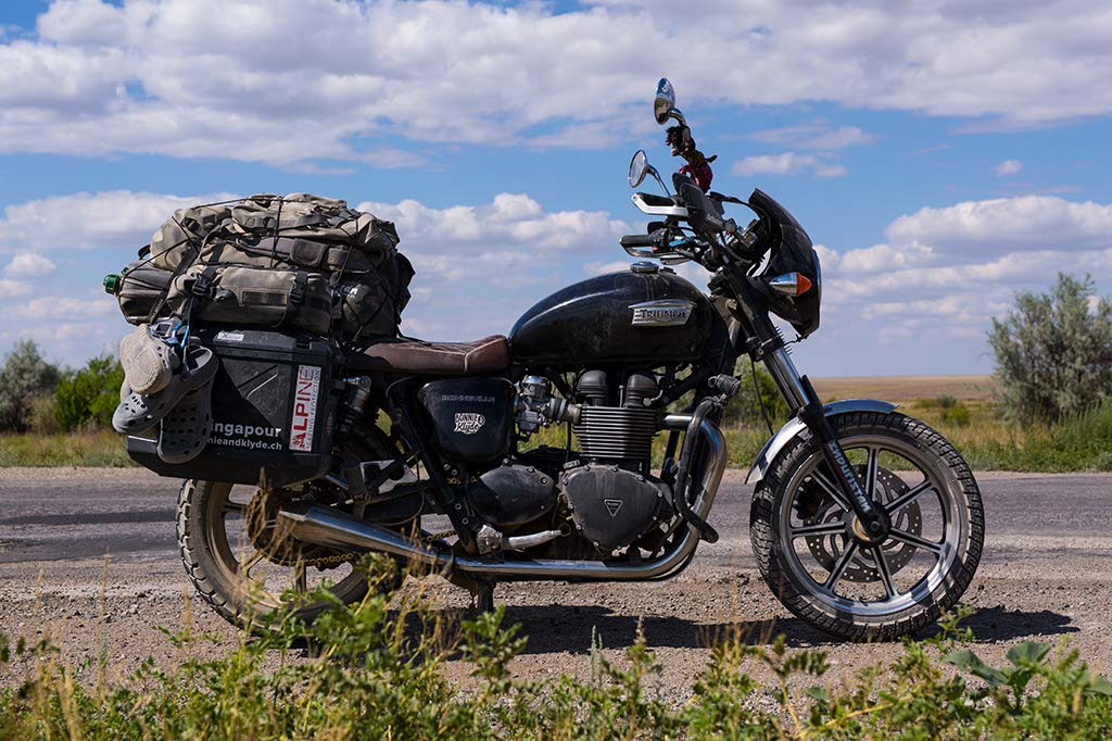 road trip moto Bonneville