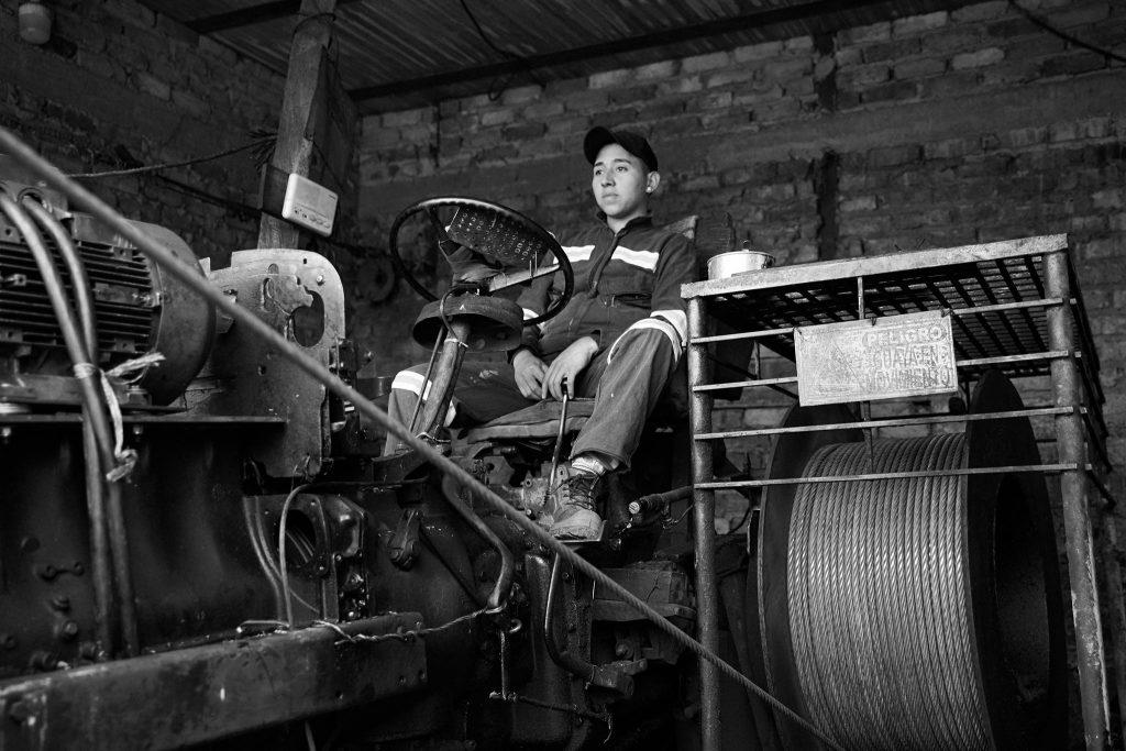 Extraction du charbon dans une mine artisanale de la région de Boyaca