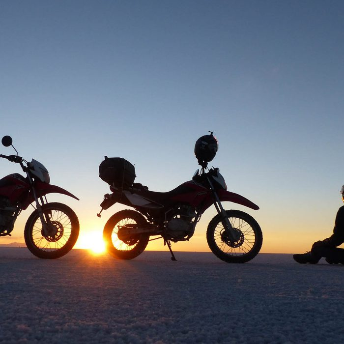 le Salar d'Uyuni à moto