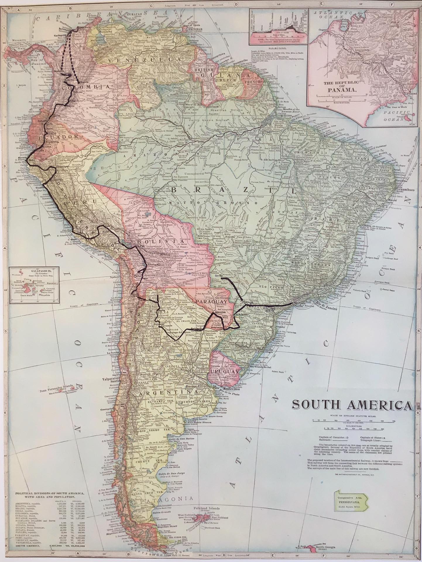Hugo Damiens en Amérique du Sud