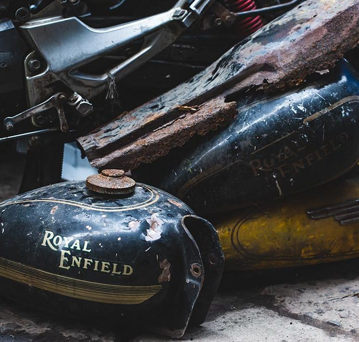 Restauration side-car Royal Enfield
