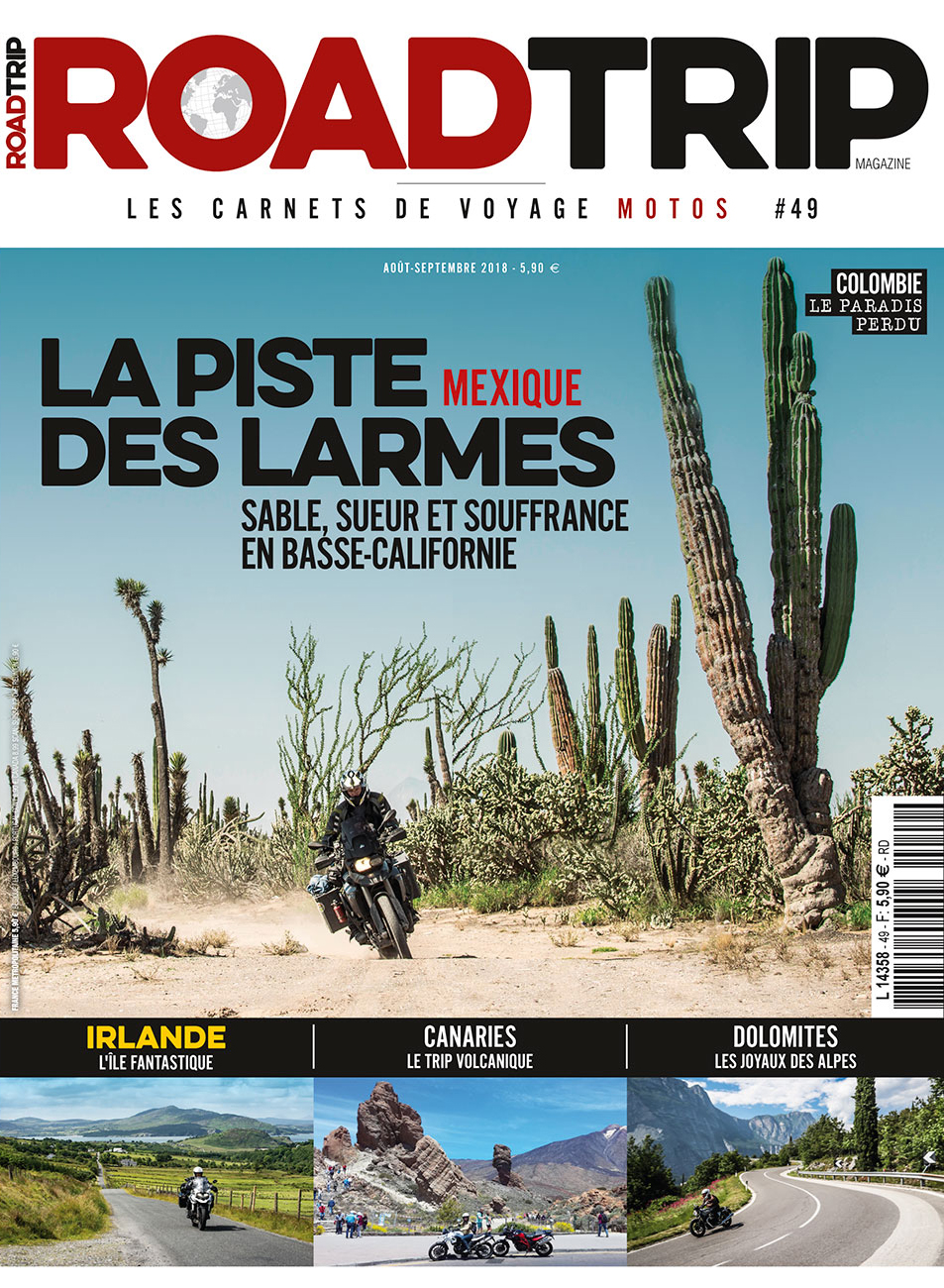 Couv Road trip mag #49 Madagascar et Colombie