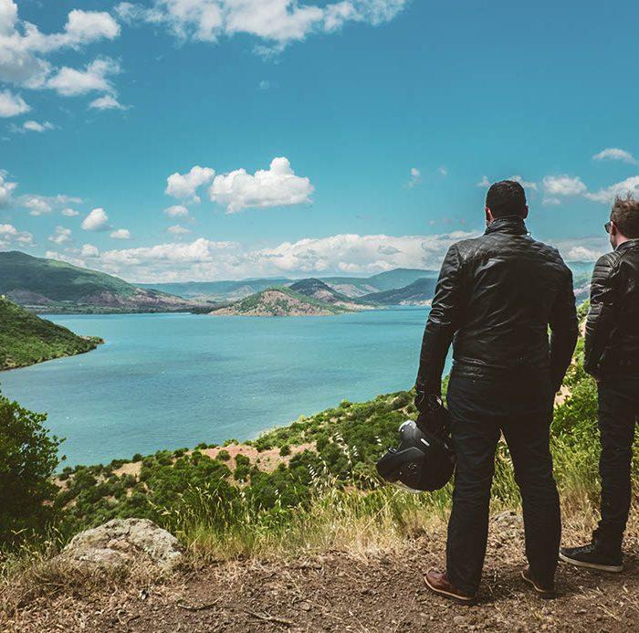 Lac Salagou l'Occitanie à moto