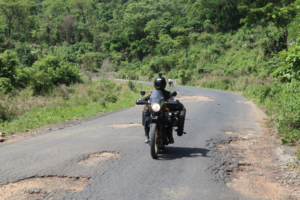 Erwan going south Royal Enfield Himalayan