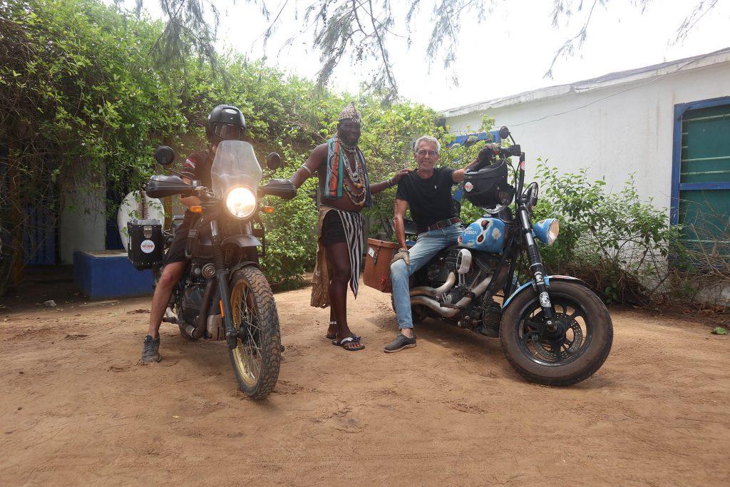 Erwan going south Royal Enfield Himalayan Afrique