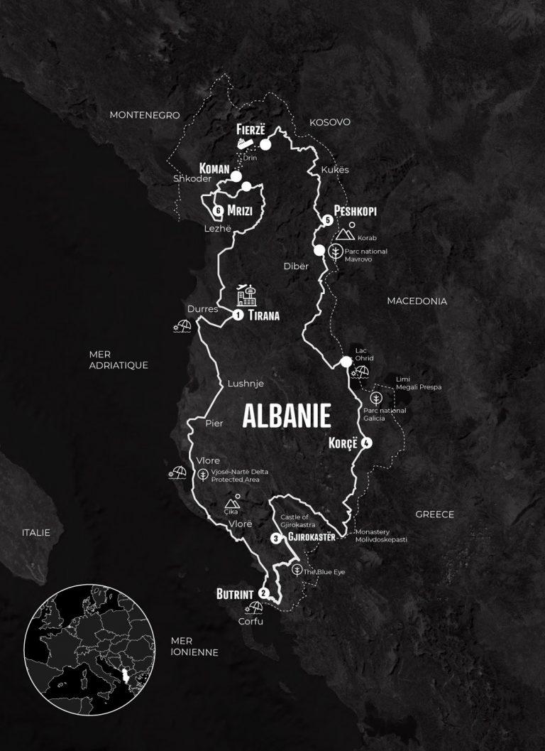 Itinéraire mono 500 Albanie